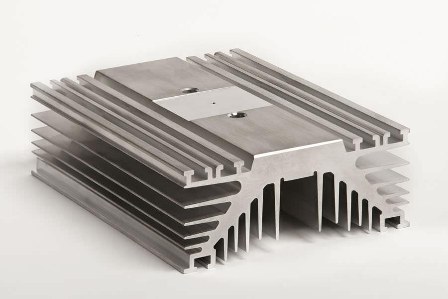 Extruded aluminum heat sink