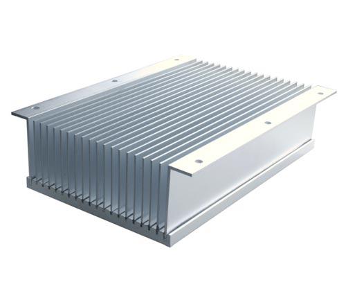 Bonded finned aluminum heat sink