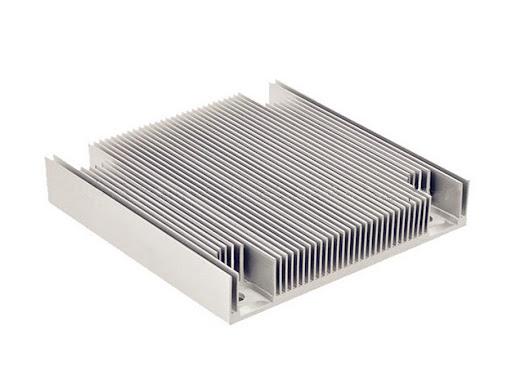 Stamped aluminum heat sink